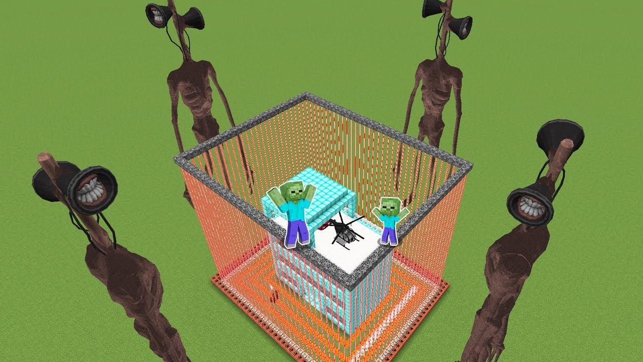 GÜVENLİ EV VS SİREN KAFA 😱 - Minecraft