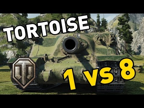 World of Tanks || Tortoise - 1 vs 8 thumbnail