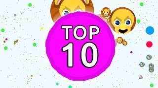 TOP 10 BEST Agario Players EVER // Agar.io Compilation