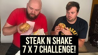 Fast Food Reviews Challenge - Steak n Shake 7x7 Burger!