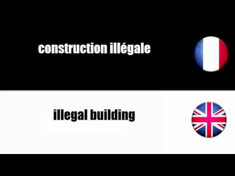 [French vocabulary] Construction