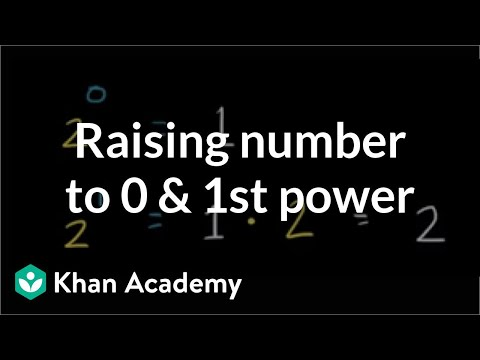 Raising a number to the 0 and 1st power | Pre-Algebra | Khan Academy