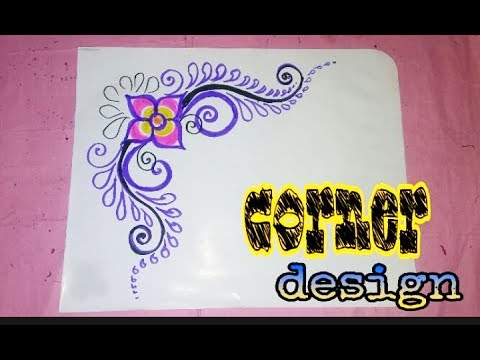 Best Corner Designs to draw for projects  Easy and Simple Borders and  Corners for School work