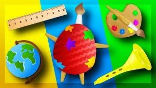 ШКОЛЬНЫЕ ПРЕДМЕТЫ опоздали на урок. Обзор на Яйца Сюрприз с игрушками Щенячий Патруль и другие