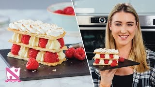 Raspberry Meringue Mille-feuille - In The Kitchen With Kate