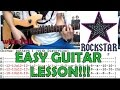 Rockstar - Nickelback (Complete Guitar Lesson/Cover)with Chords and Tab