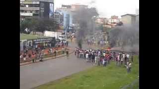 Manifestação em Valparaiso de Goias - 17/03/2014