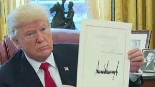 Trump signs tax bill, From YouTubeVideos
