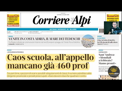 Edicola Belùn di giovedì 13 agosto 2020 from YouTube · Duration:  34 minutes 40 seconds