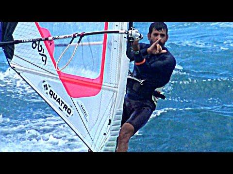 A Dozen Windsurfers at the Point, Ho'okipa - Maui