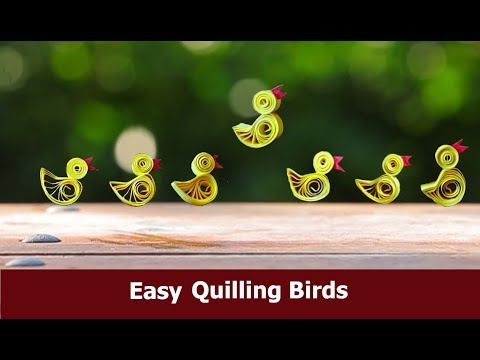 DIY  Easy Quilling Birds | Quilling Craft Idea for Beginners By Aloha Crafts