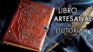 Cómo hacer un LIBRO ARTESANAL. Tutorial de encuadernación | How to make a handmade book