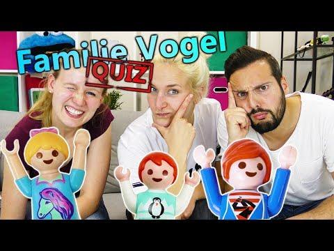 DAS GROßE FAMILIE VOGEL QUIZ! Wer kennt die Playmobil Familie am besten? Kathi vs Kaan mit Nina