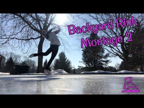 Figure Skating Backyard Rink Montage 2