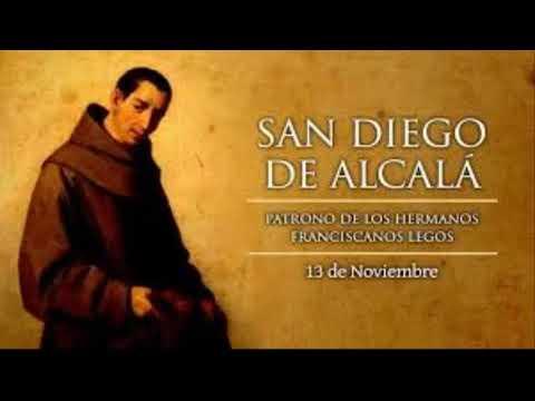 SANTO DEL DIA DE HOY SAN DIEGO DE ALCALÁ NOVIEMBRE 13