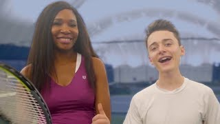 Launching My Tennis Career w/ Venus Williams! | Noah Schnapp