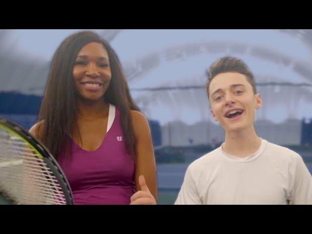 Launching My Tennis Career w/ Venus Williams! | Noah Schnapp