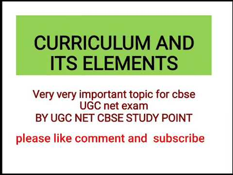 CURRICULUM AND ITS ELEMENTS