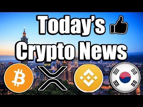 Daily Bitcoin & Cryptocurrency News! [Updates on Bitcoin, Ripple, Binance, & South Korea!]
