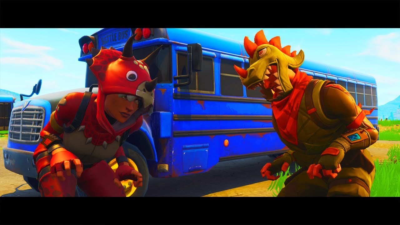 Triceratops And Rex Teaches Fortnite School