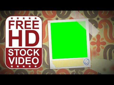 FREE HD video backgrounds – animated photo album retro style with green screen to place your photos