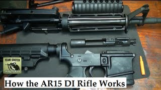 How the AR 15 / M4 DI or Direct Impingement System Works
