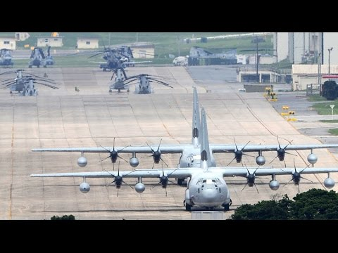 Japan halts construction of US air bases on Okinawa