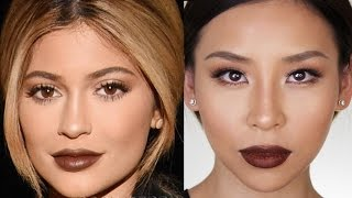 Kylie Jenner Fall Makeup Tutorial - Great for Hooded or Asian Eyes
