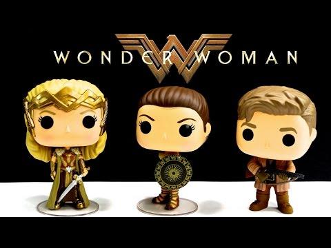 Wonder Woman Movie Funko DC Comics POP Vinyl Figures Steve Trevor Amazon Wonder Woman and Hippolyyta