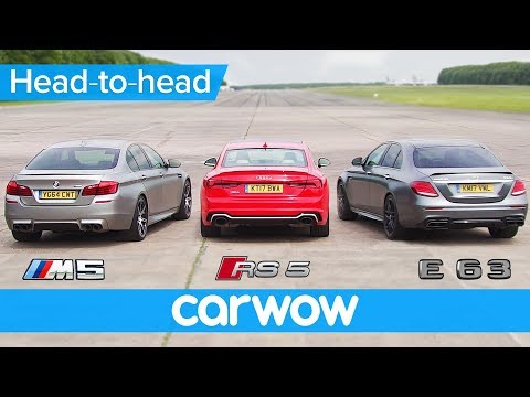 Mercedes-AMG E63 S v BMW M5 v Audi RS 5 DRAG & ROLLING RACE | Head2Head