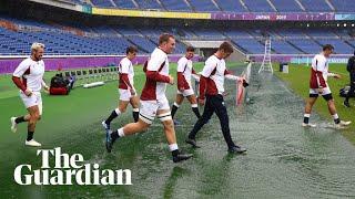 England train in heavy rain ahead of Rugby World Cup semi-final