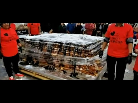 NZ charity breaks world record for largest lamington
