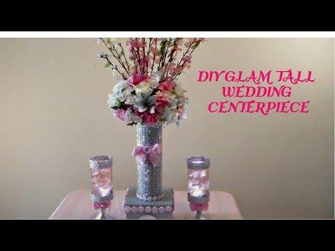 DIY GLAM (TALL) WEDDING CENTERPIECE