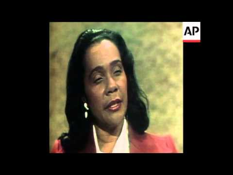 SYND 29 8 78 INTERVIEW WITH MARTIN LUTHER KING'S WIFE, CORETTA