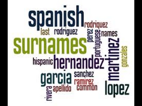 Hispanic Slave Last Names..