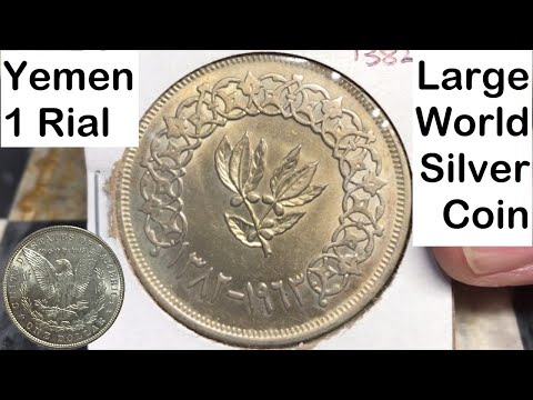 Yemen 1 Rial 1963 (Large World Silver Coin)
