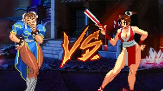 Mugen Chun Lee VS Mai Shiranui (Kof VS SF)