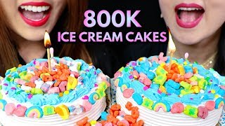 ASMR ICE CREAM CAKES 800K SUBS…