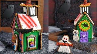 Haunted Gingerbread House For Halloween, Haniela's