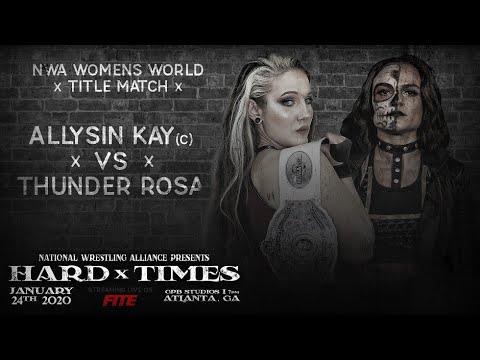 ALLISYN KAY (c) vs THUNDER ROSA | NWA Hard Times Highlights