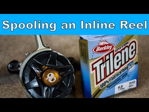 How To Put Line On An Inline Ice Fishing Reel