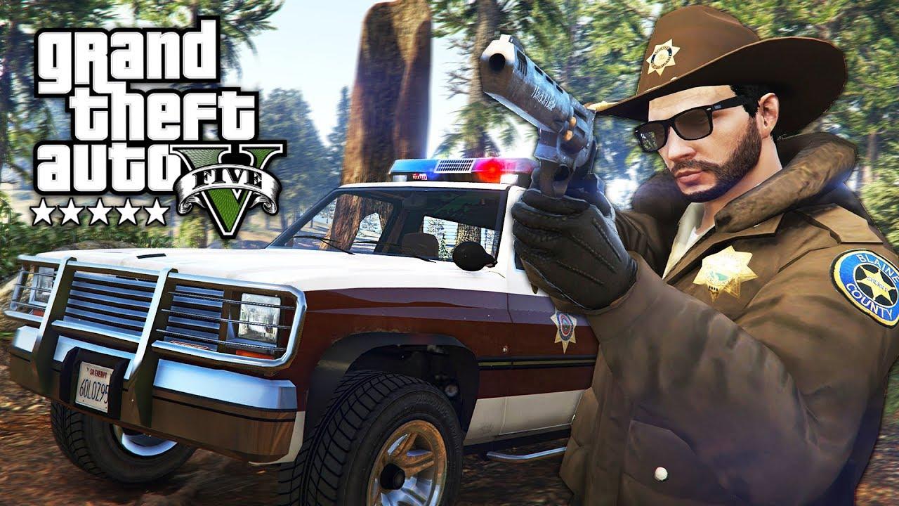 GTA 5 PLAY AS A COP MOD - NEW SHERIFF POLICE PATROL!! (GTA 5 Mods Gameplay)