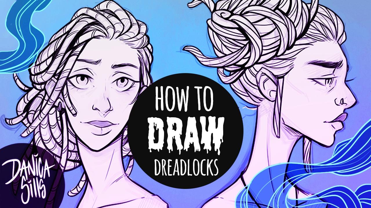 How To Draw Dreadlocks ™� Hair Drawing Tutorial