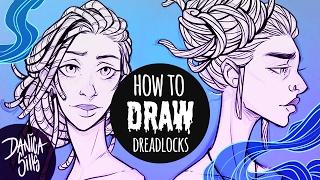 How to Draw Dreadlocks ♦ Hair Drawing Tutorial