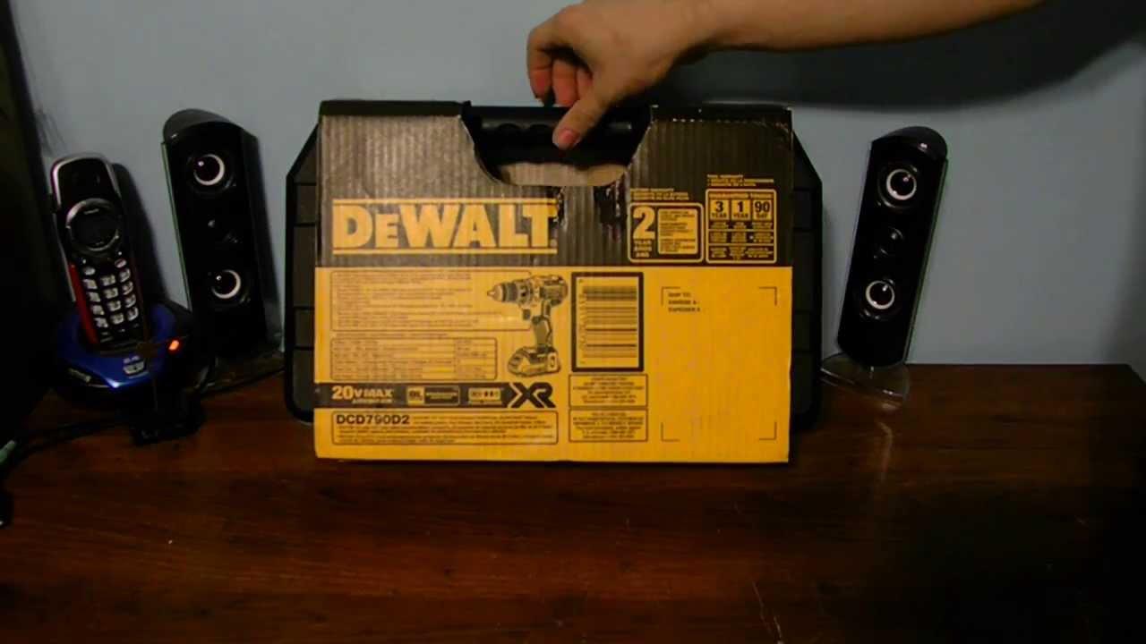 Kanon New Dewalt Drill DCD790D2 Unboxing - YouTube QX-56