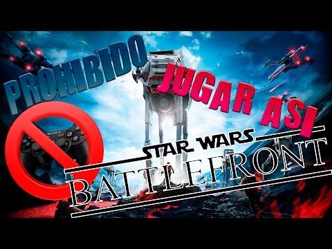 PROHIBIDO jugar con mando!! - Star Wars Battlefront