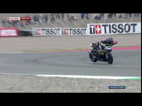Baz takes dramatic tumble as Tissot Superpole Race begins!
