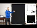 LimoStudio Backdrop Support Stand Amp Black Muslin Backdrop Screen Setup Amp Review mp3
