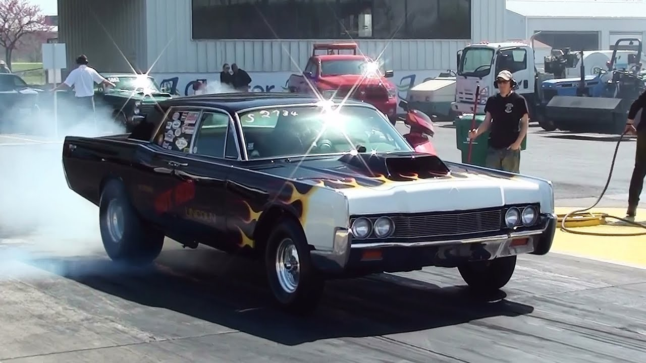 Hot Rod Lincoln Burnout and Quarter Mile - YouTube