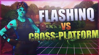 God Fortnite Mobile player vs PS4 & PC players / Insane plays! | Flashinq vs Crossplatform #1